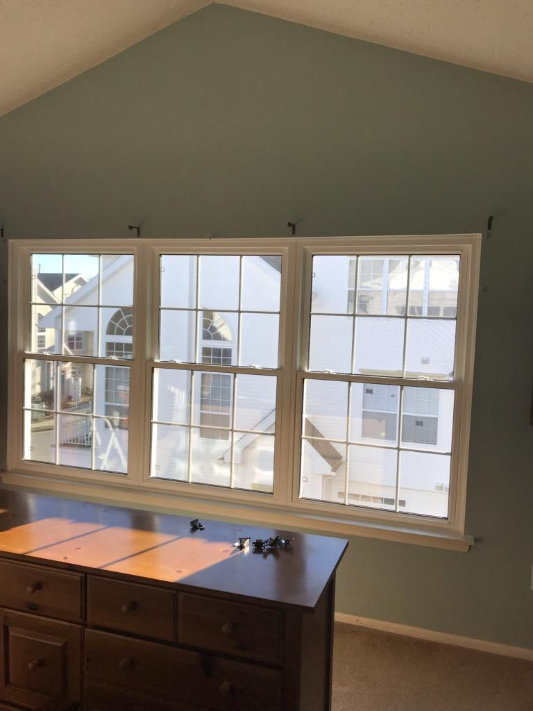 Collection of Three New Vinyl Double Hung Windows