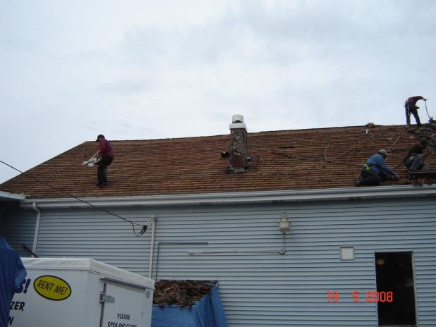 Finishing a Roof Replacement