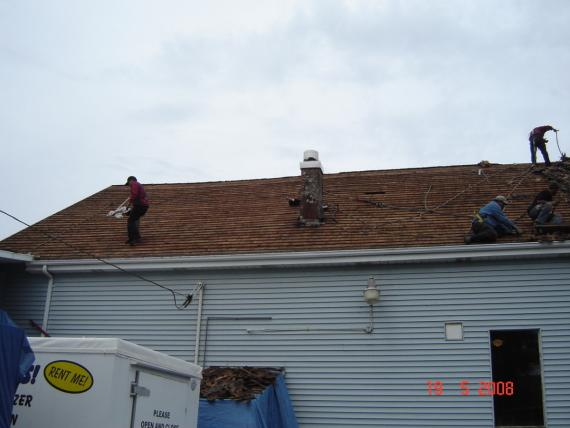 Our Team Installing a Roof in Ilwaco, WA