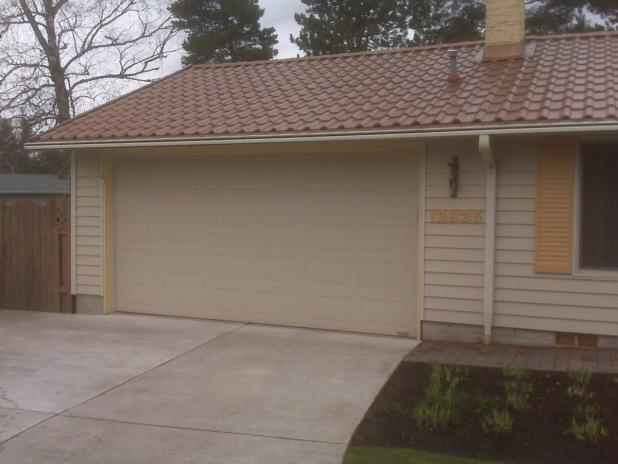 Siding Installed on a Garage in Beaverton, OR