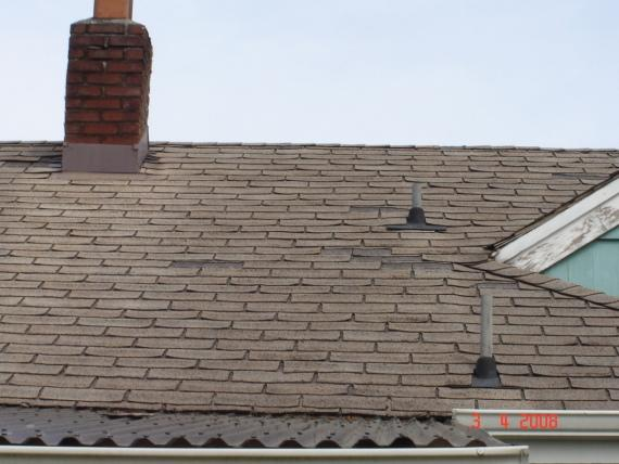 Damaged and Missing Roof Shingles