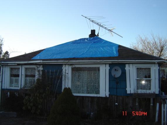 Roof Tarp Installed on Astoria Home
