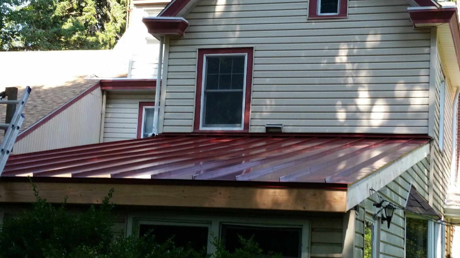 Custom Red Standing Seam Metal Roof