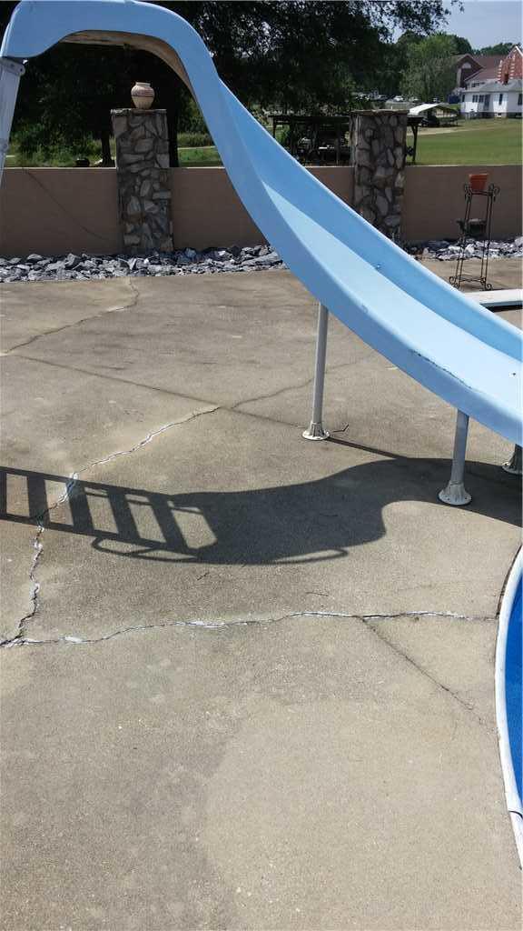 Sinking Pool Deck in Icard, NC