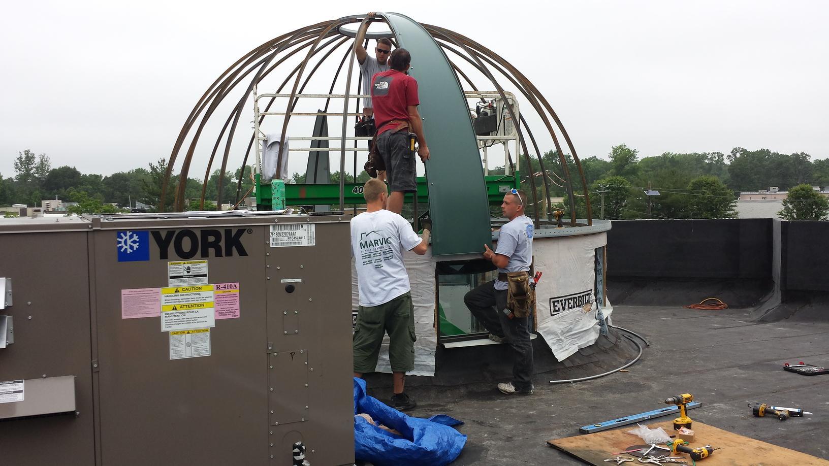 Progress Photo of Standing Seam Metal Install