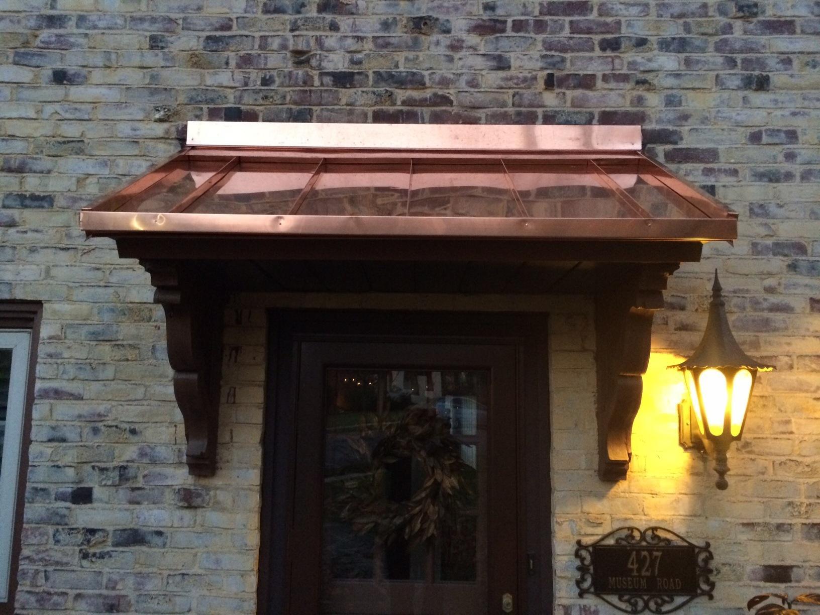 New Copper Standing Seam Porch Roof