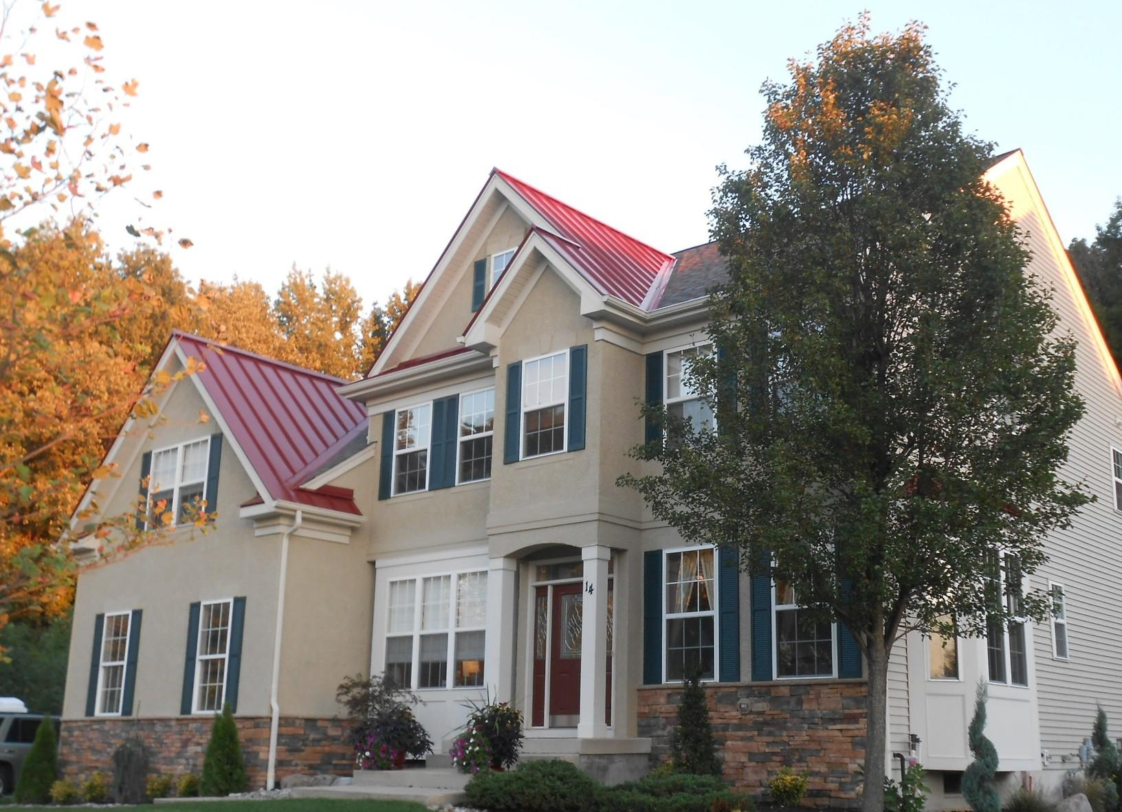 Colonial Red Standing Seam Metal Roof Install in NJ
