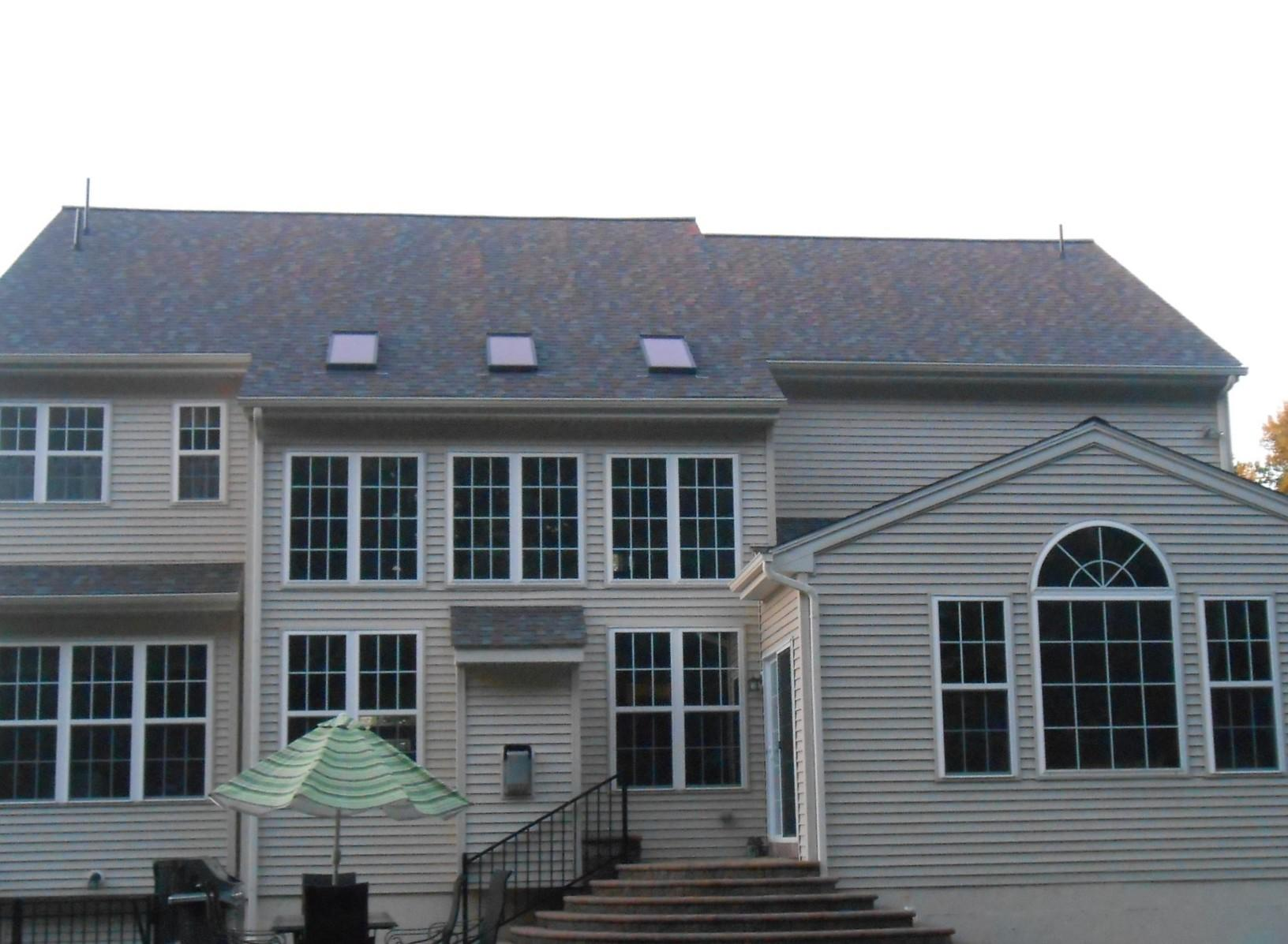 Owens Shingles on Roof with Skylights