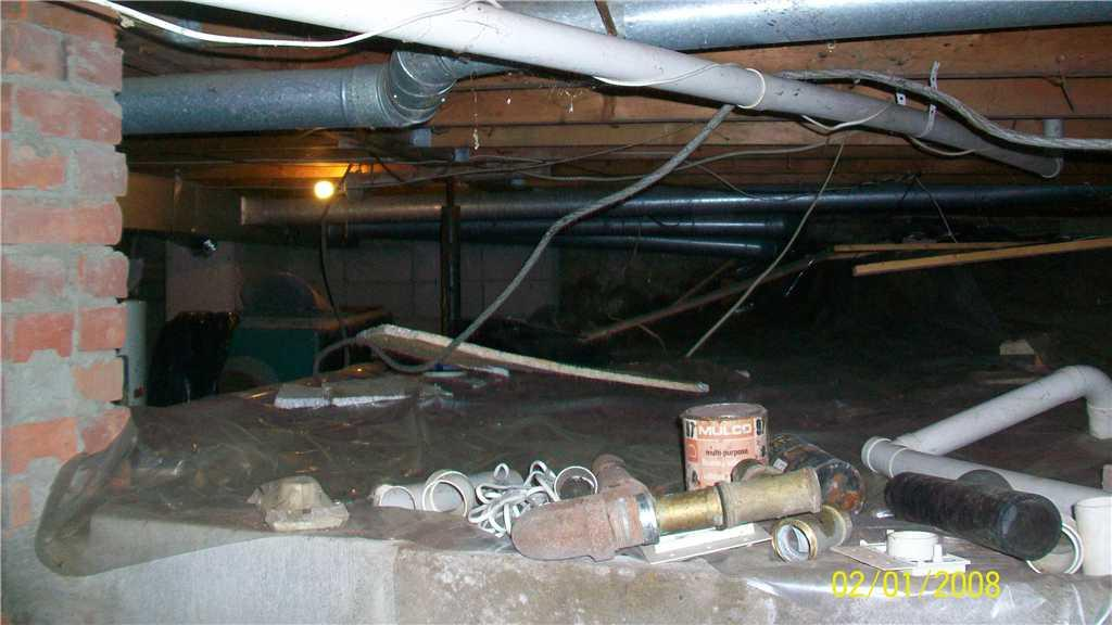 The state of the crawl space in Brownsburg-Chatam