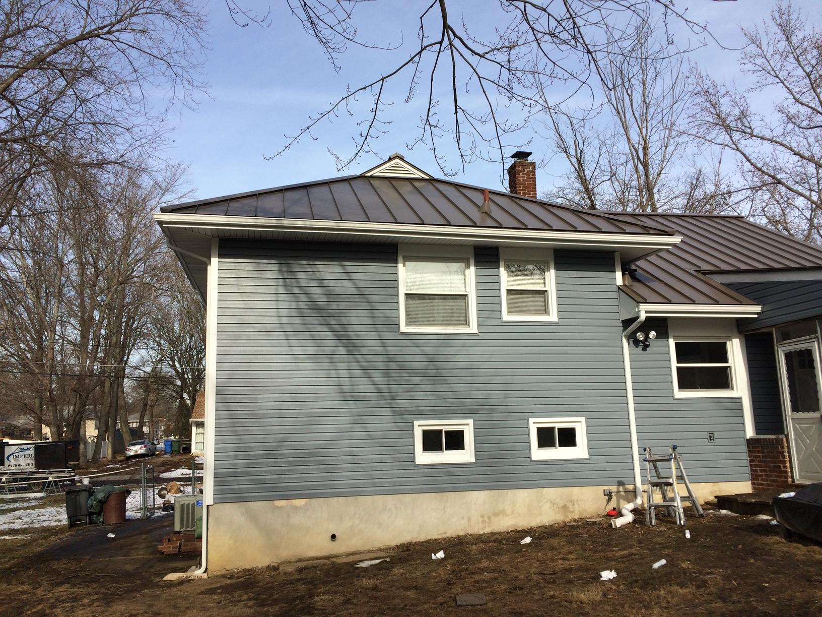 Medium Bronze G-Tech Standing Seam Metal Roof