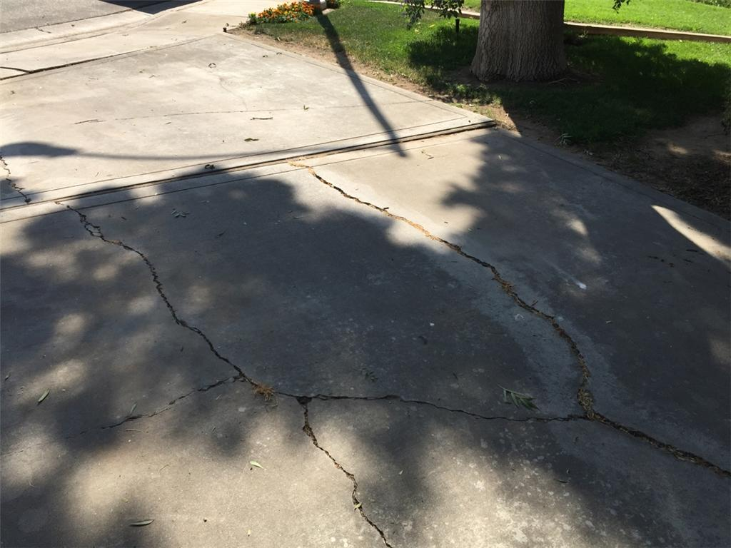 Sunken and Cracked Driveway