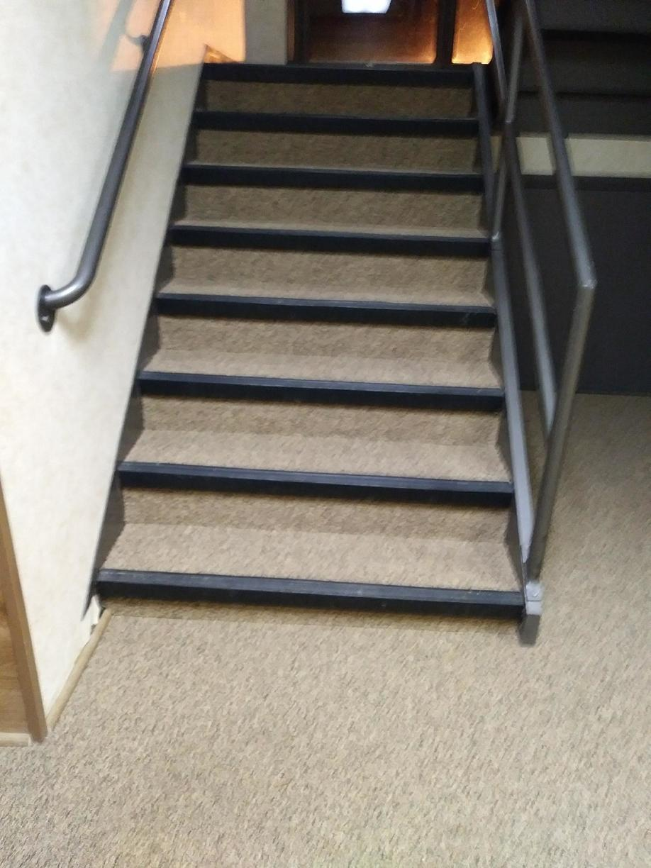 Commercial Carpet On Hallway + Steps with Rubber Lip in Iselin, NJ