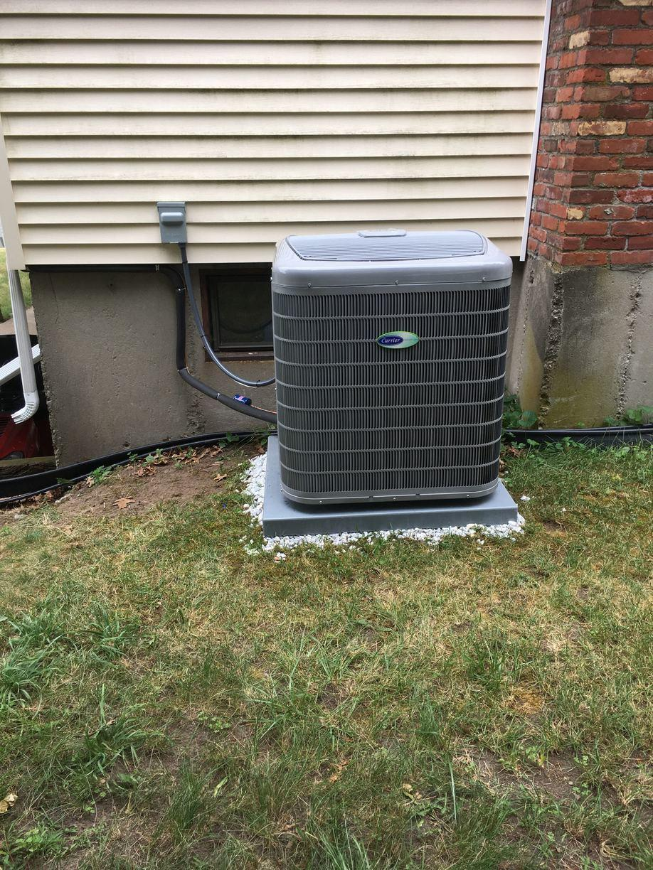 Central AC Condenser Installation