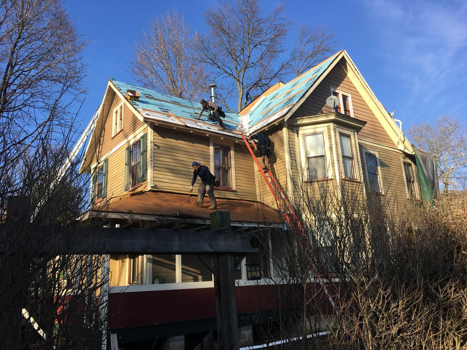 Progress Photo of Roof Replacement