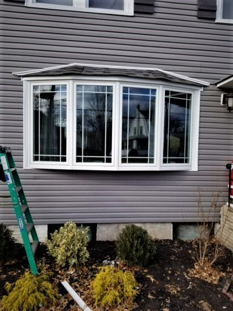 Installing Bow Window with Praire Grilles in Union, NJ