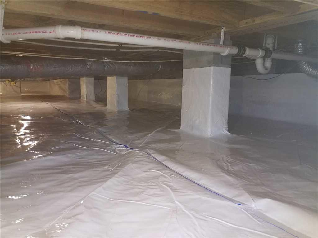 CleanSpace liner was used to encapsulate the crawl space