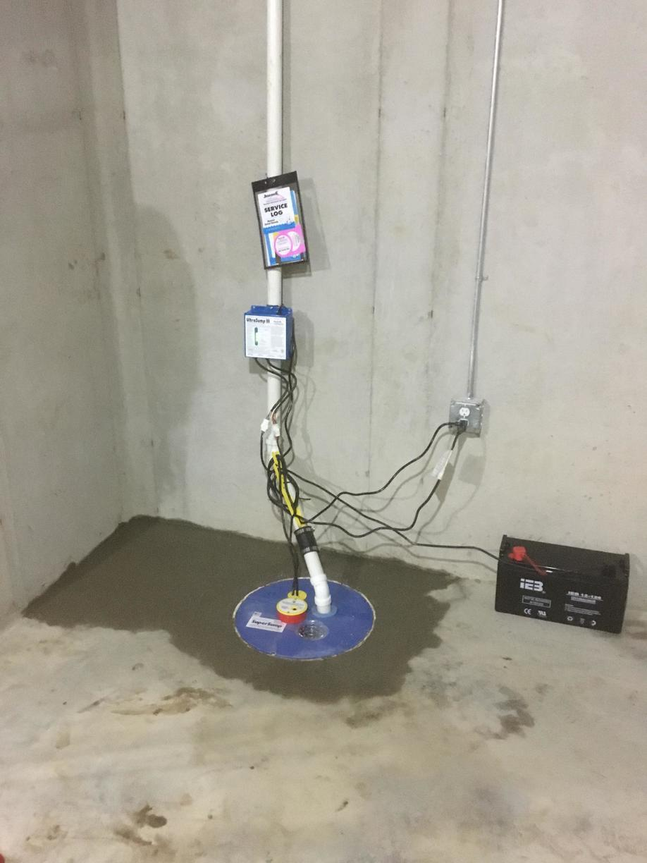 Water that was seeping into a basement resolved with a SuperSump and UltraSump Pumping Systems in Ft. Mitchell, KY