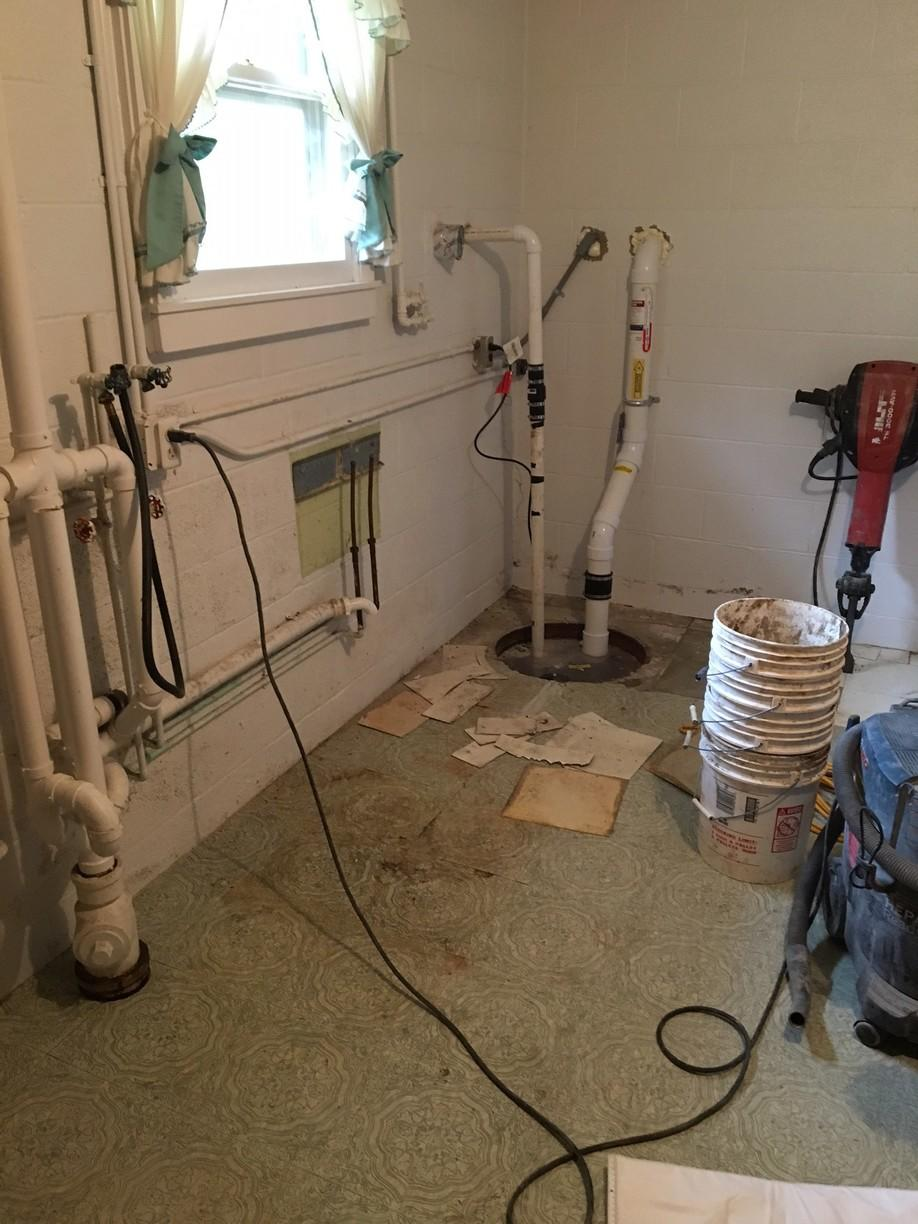 Sump pump before we started