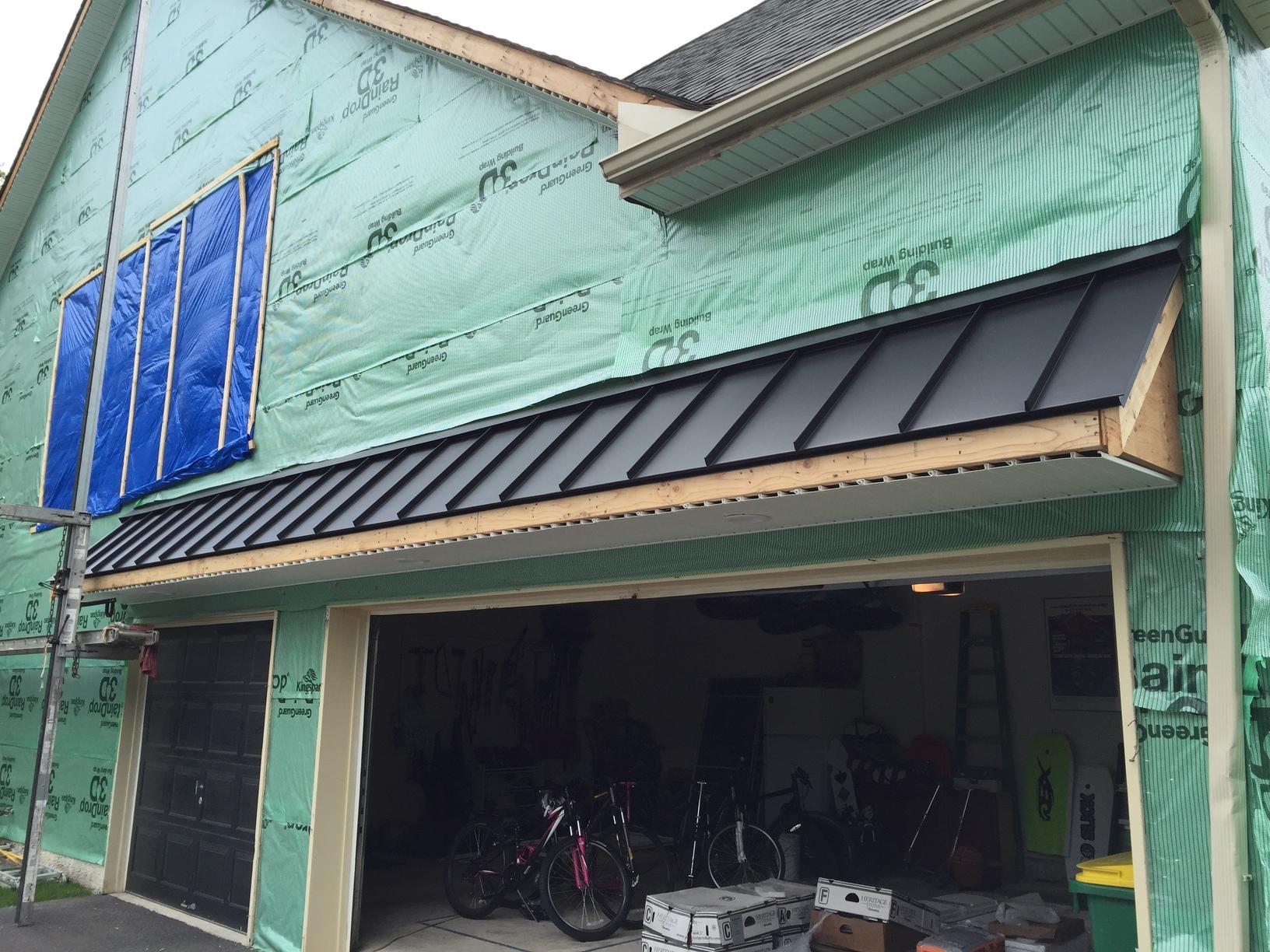 Installing Standing Seam Metal Roof Over Garage