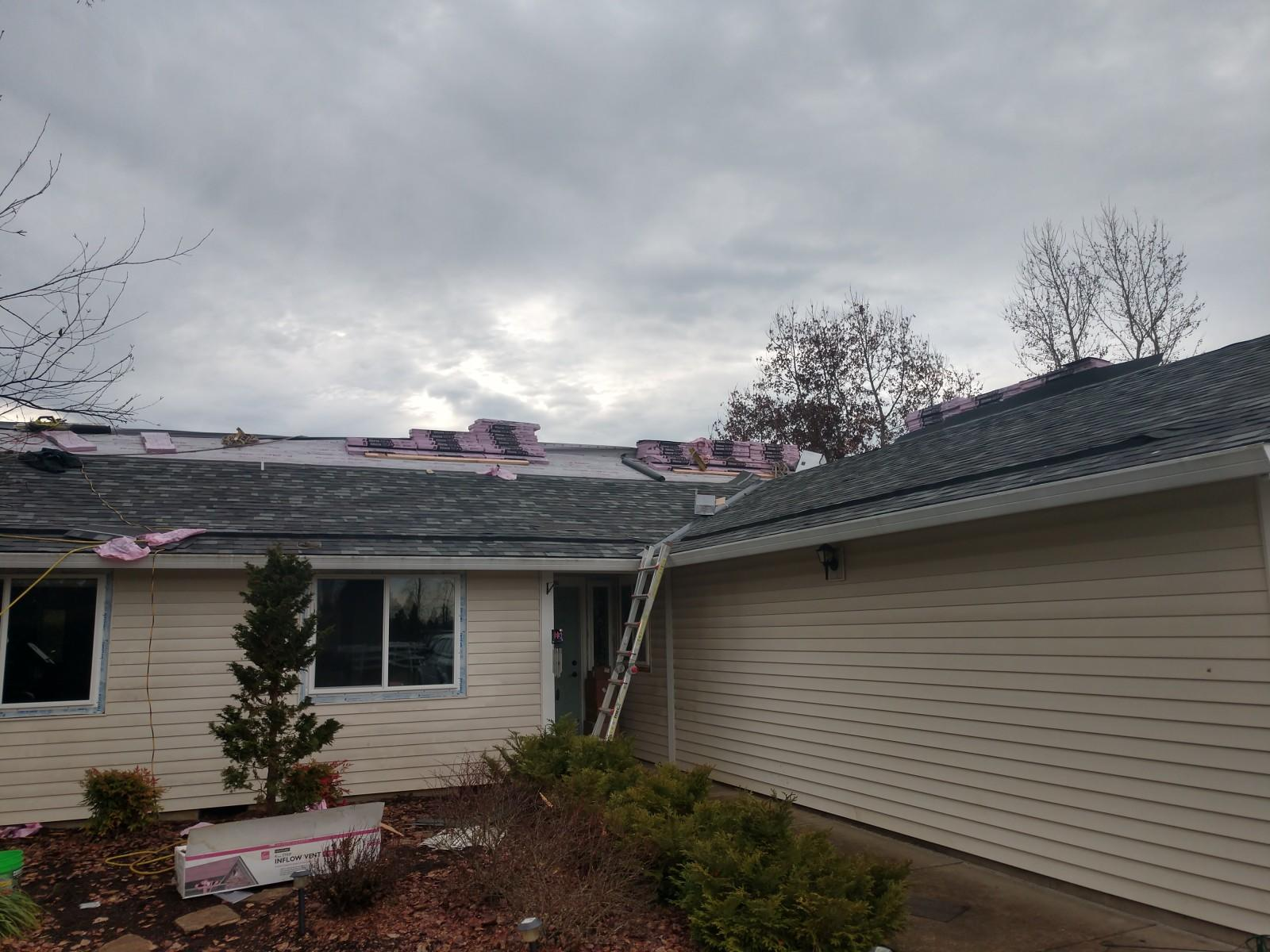 Inflow Vents Installed for the Roof