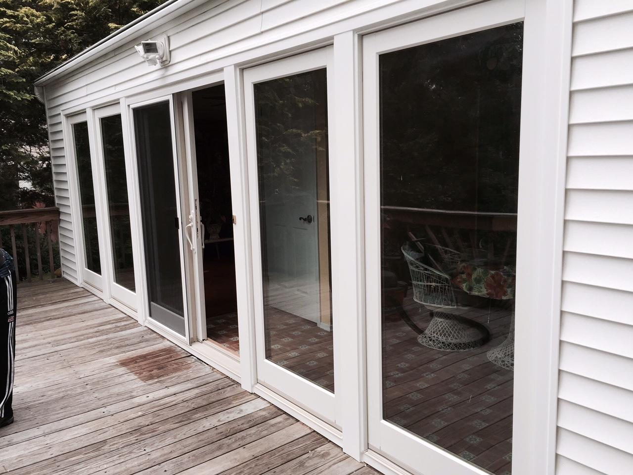 Replacement Doors Marvin Infinity Double Hung And Casement Window And Integrity Picture Windows And French Sliding Patio Door Installation In Vernon Nj Marvin Integrity Picture And French Patio Door Install