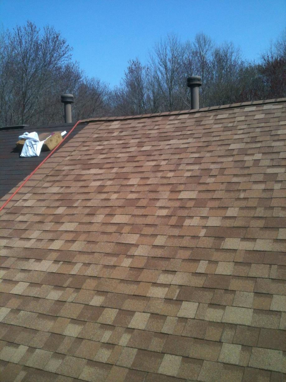 Roof Replacement Desert Tan Owens Corning Duration
