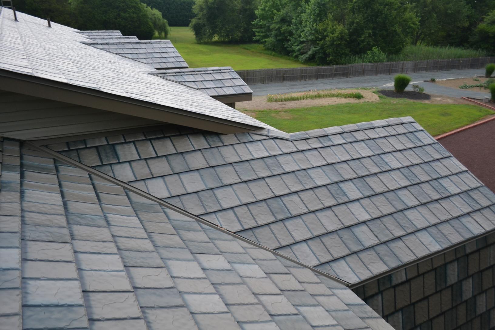 Charcoal Grey Metal Slate Install in DE