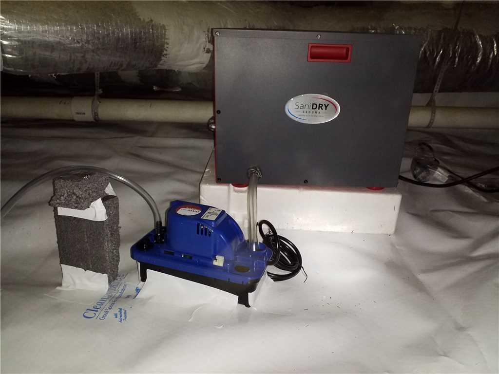 Energy-Star SaniDry Sedona Dehumidifier with Condensate Pump