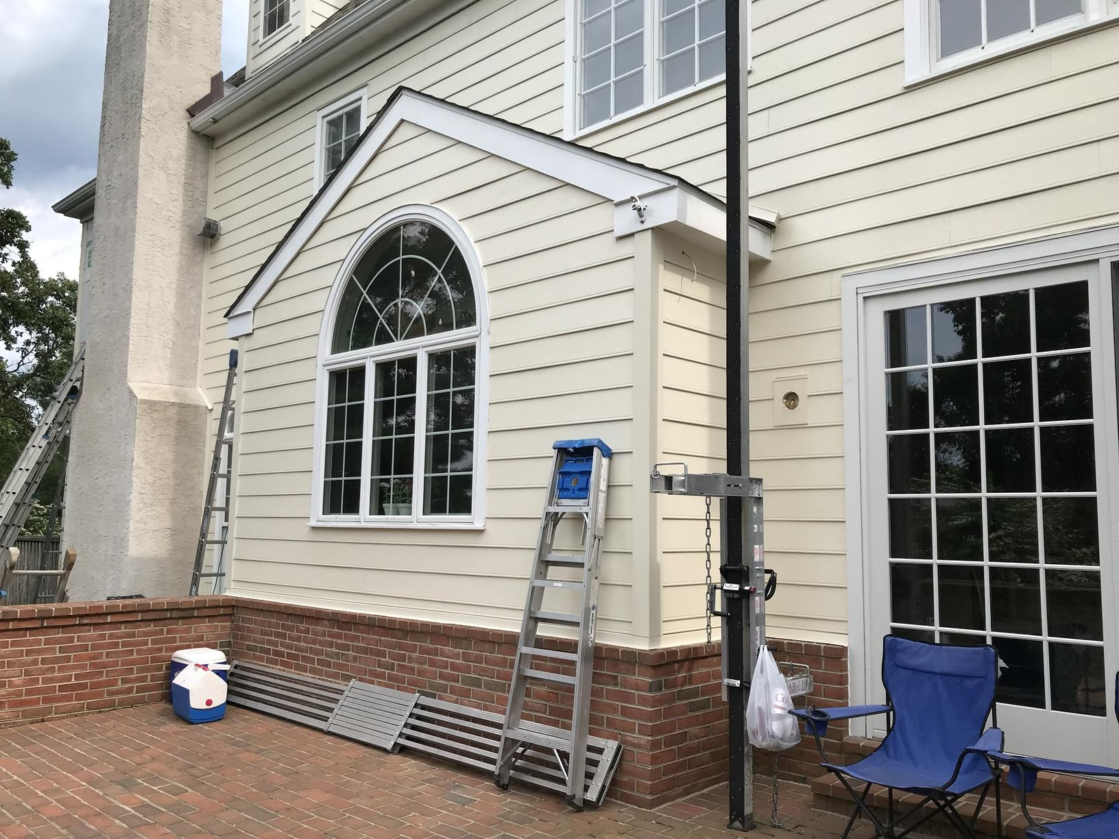 Installing Sail Cloth Beaded Planks Installed in Newtown Square, PA