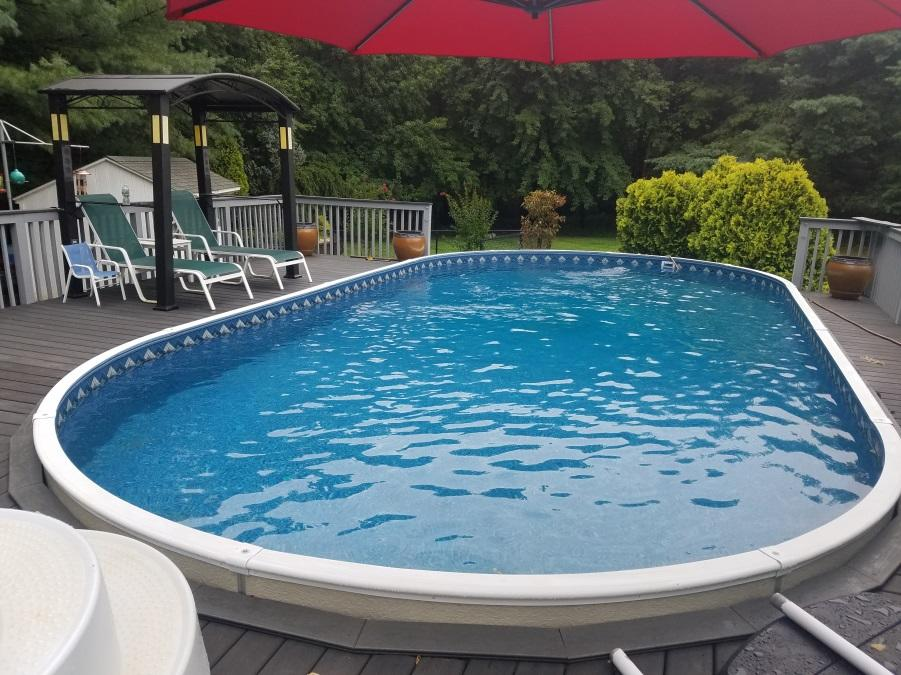 Above Ground Pool Re-Installation in Holmdel, NJ