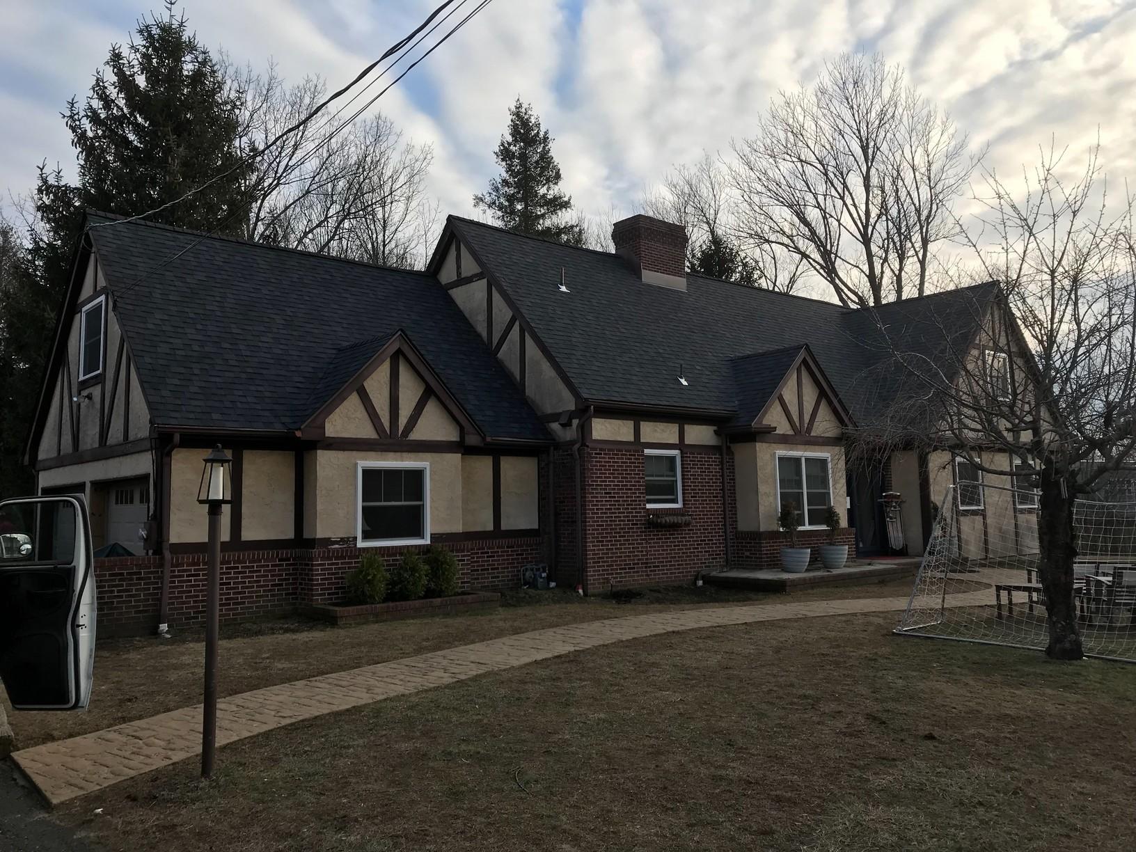 Estate Grey Duration Shingles on Tudor Home in NJ