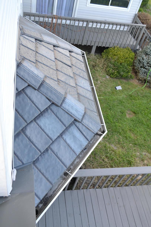 Metal Shingle Roof Over Bay Window