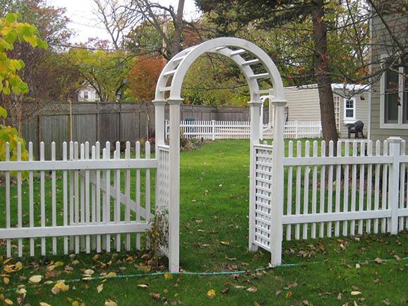 PVC Arbor & Fence