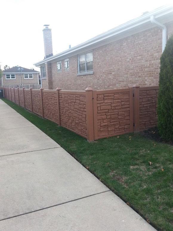 PVC Imitation Stone Fence