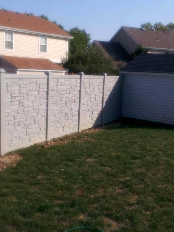 PVC Stone Fence