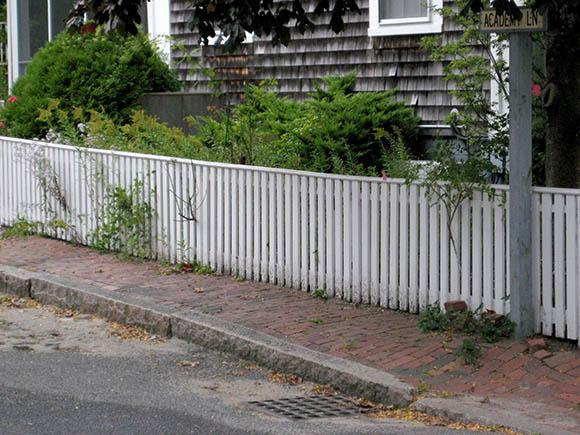 Spaced PVC Fence