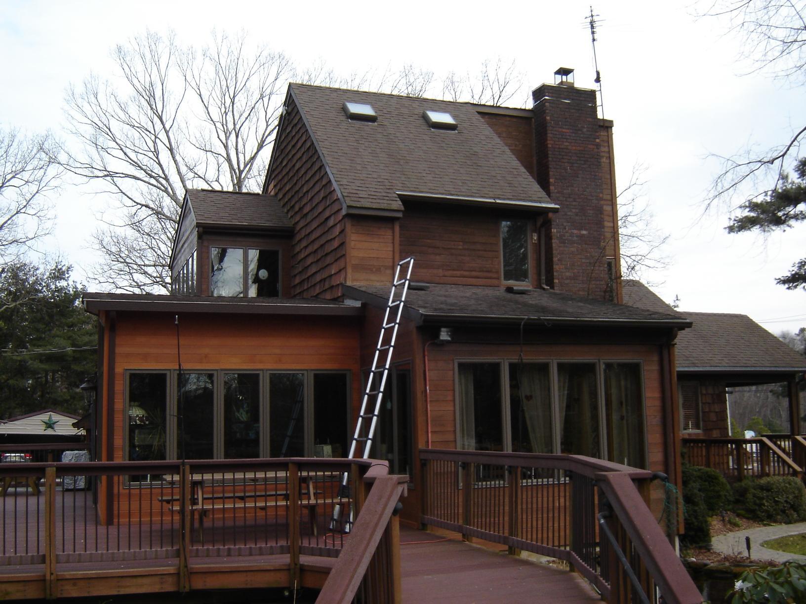 Before Photo of Asphalt Shingles on Rustic Home