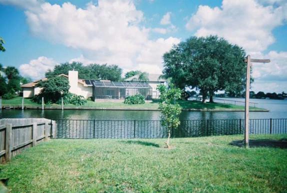 Aluminum Fence and Lake