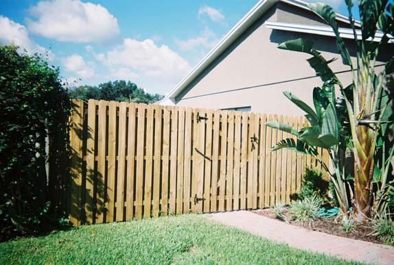 Wood Fence & Gate
