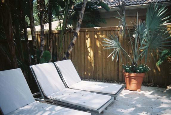 Wood Fence & Patio