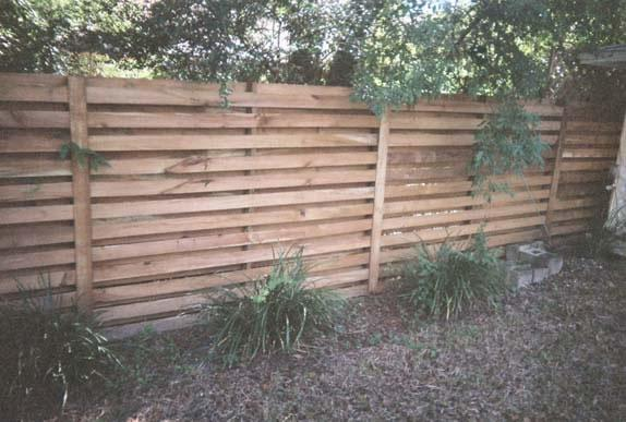 Horizontal Wood Fence Boards