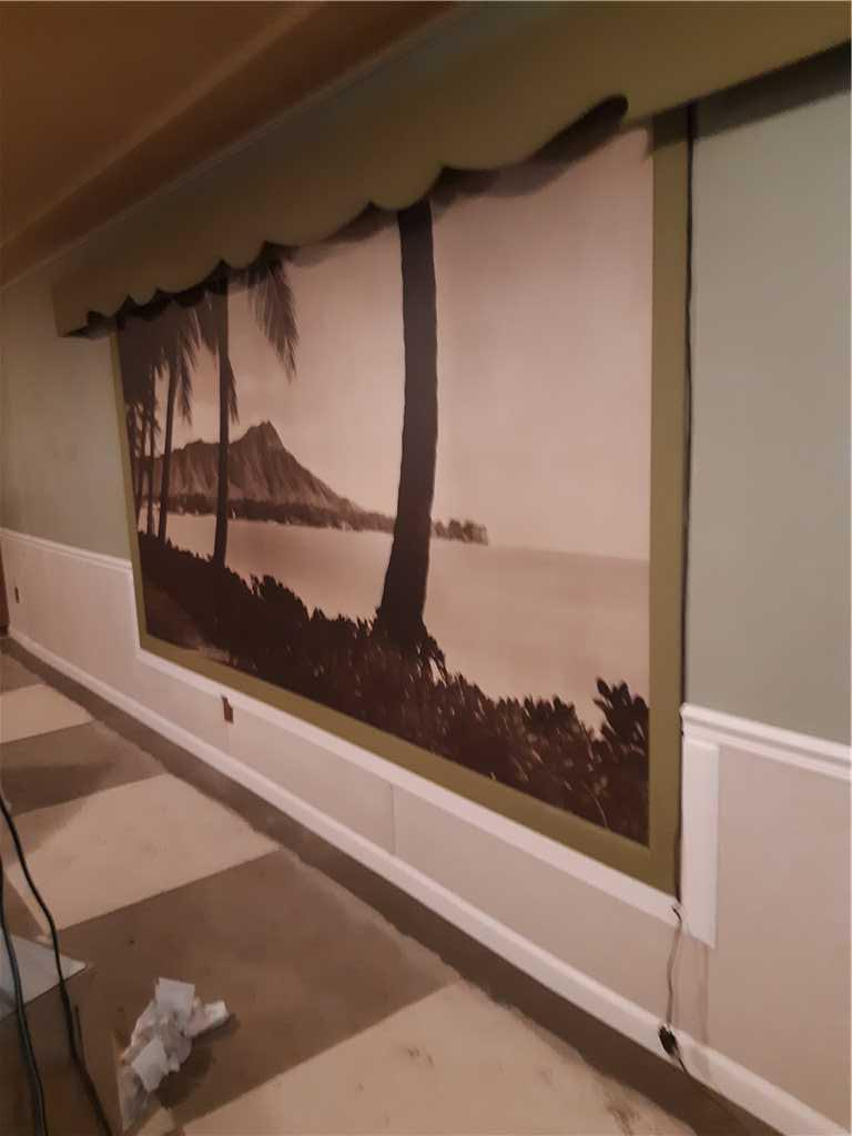 Basement Wall Painting; Portland, OR