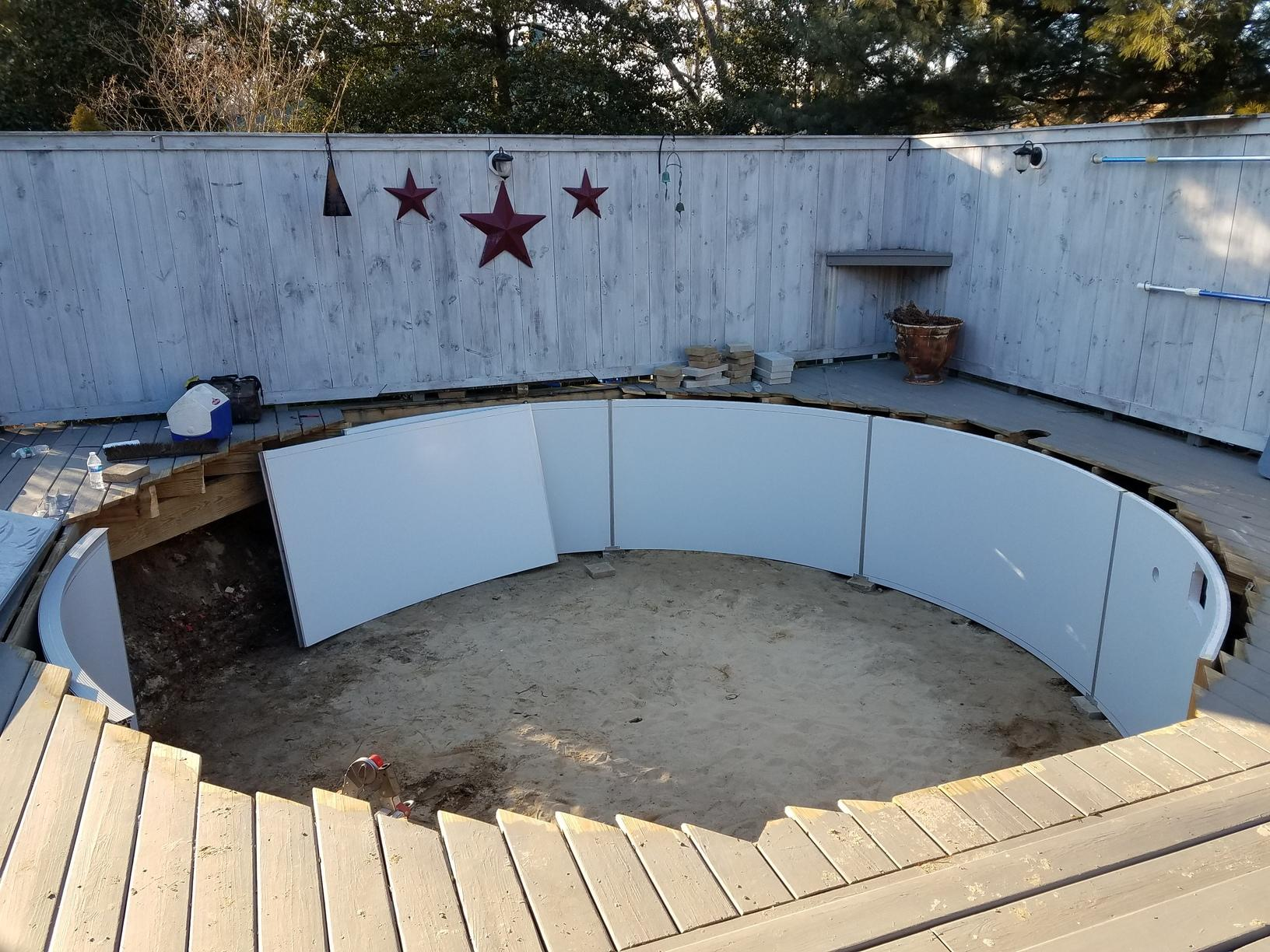 Fitting Pool with Deck