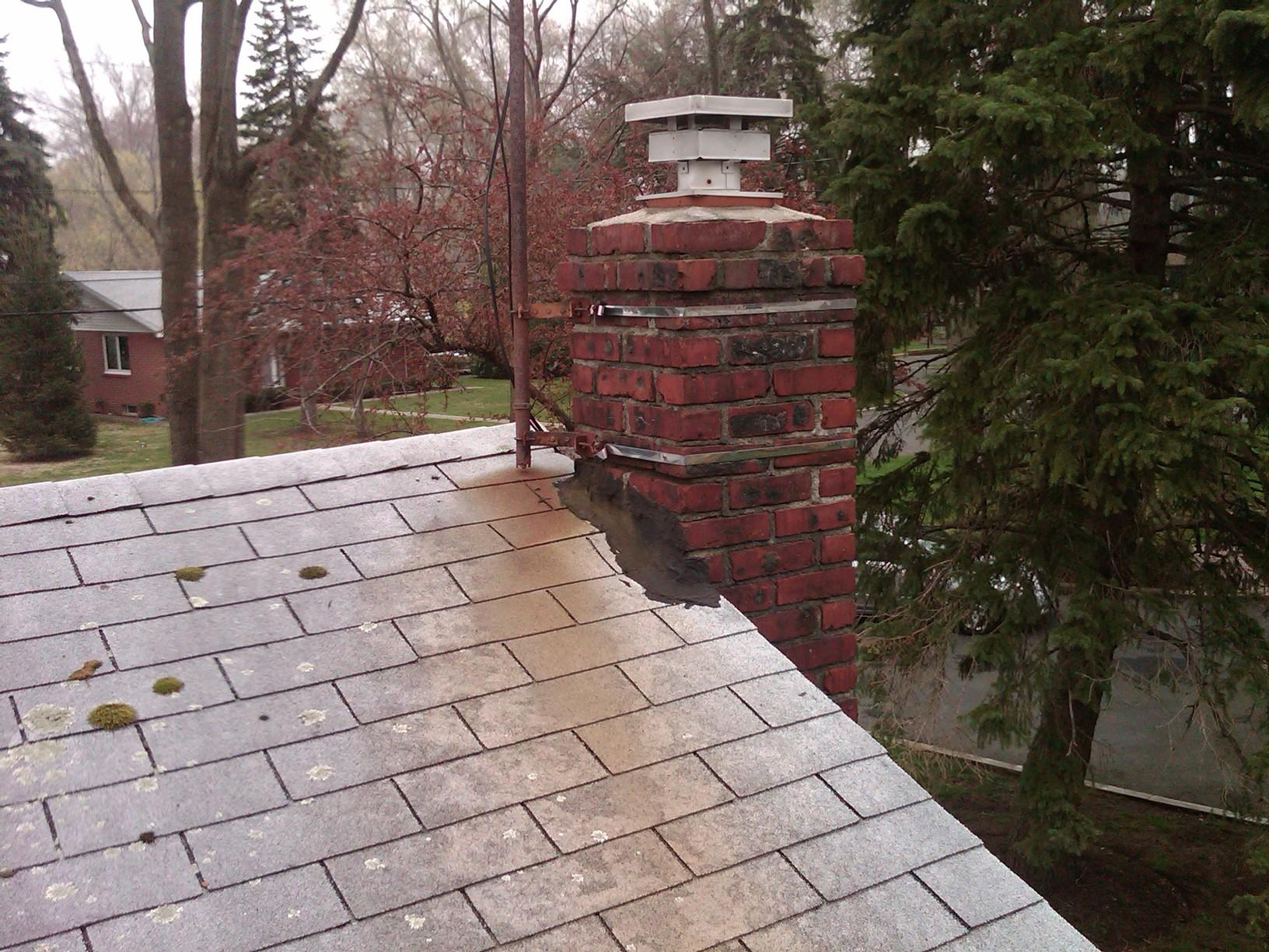 View of Old Chimney Flashing