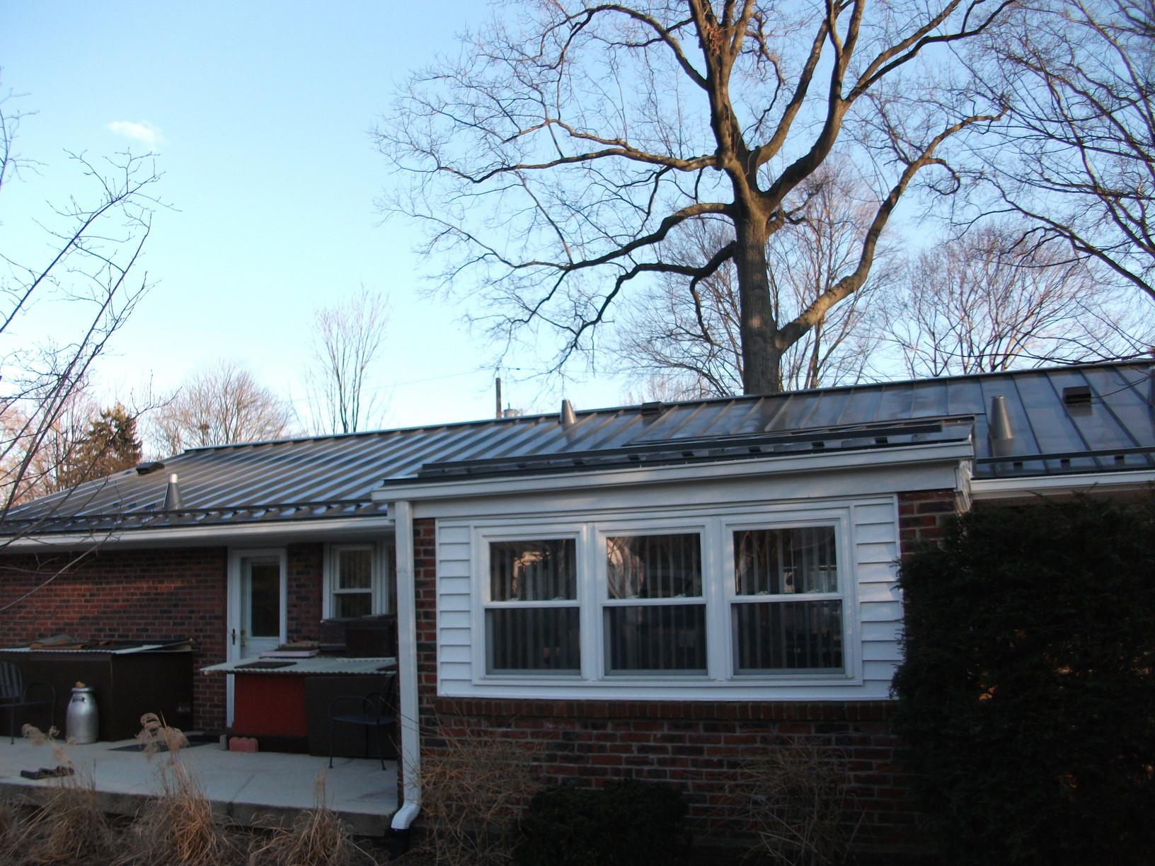 Installing Metal Roof on Home in Mountainside, NJ