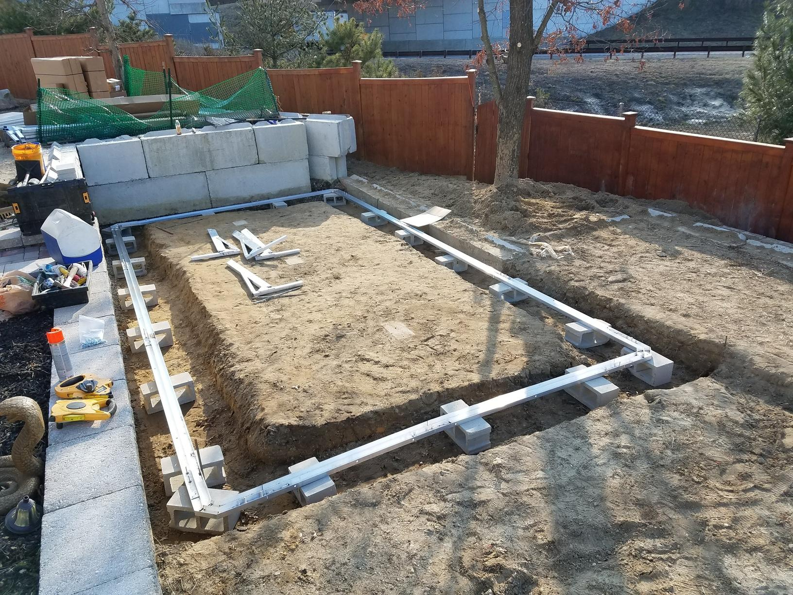 On Ground Radiant Pool Installation in Beachwood, NJ