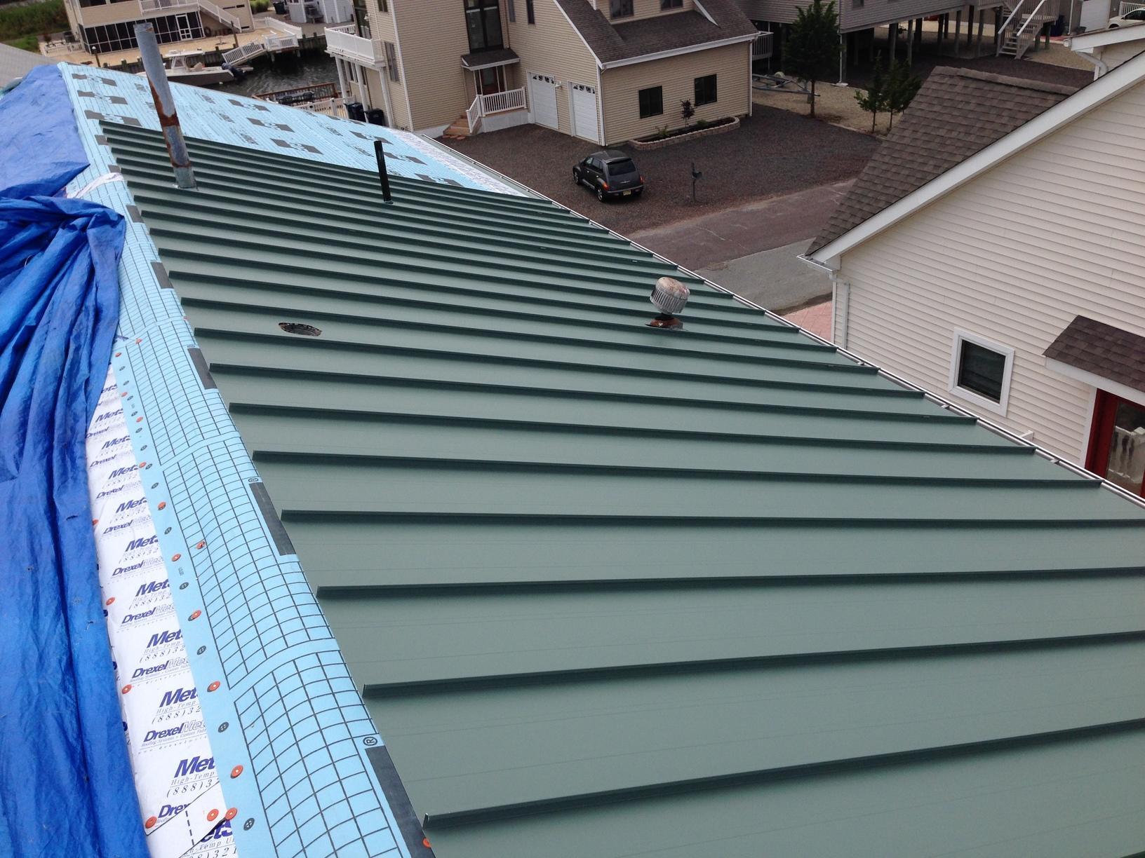 Progress Photo of Metal Roof Install in NJ