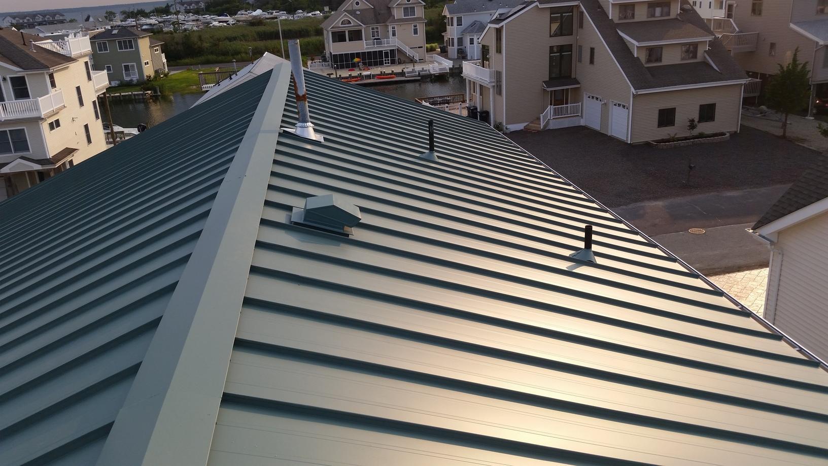 Hemlock Drexel G-Tech Standing Seam Metal Roof Install on Jersey Shore Home