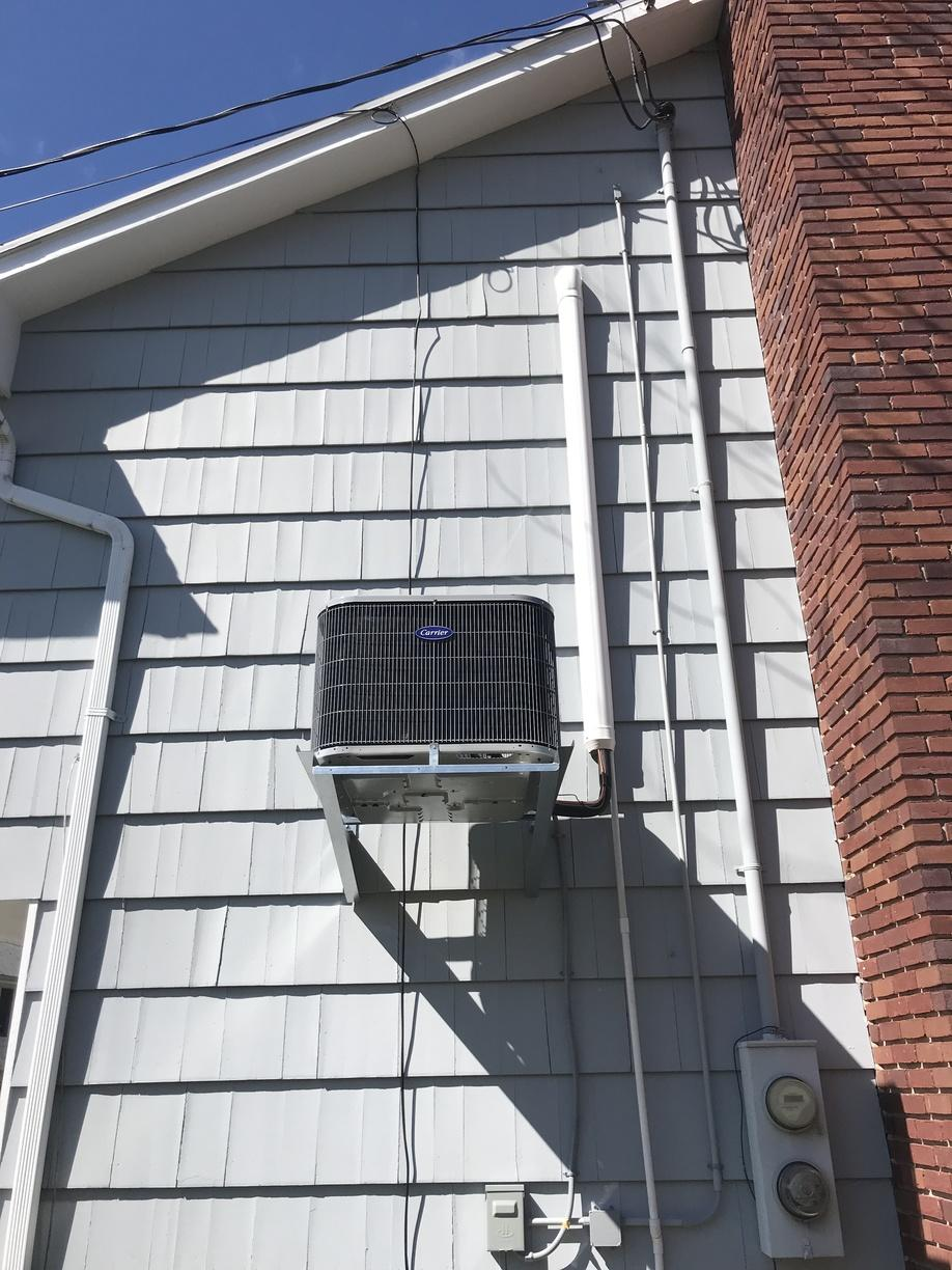 AC installation for a customer in Stamford, CT
