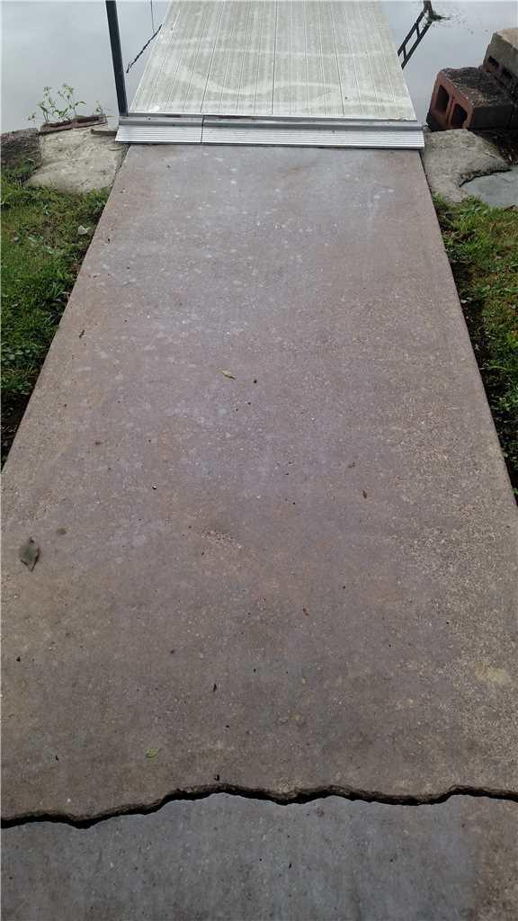 Sidewalk hazard in Brewerton